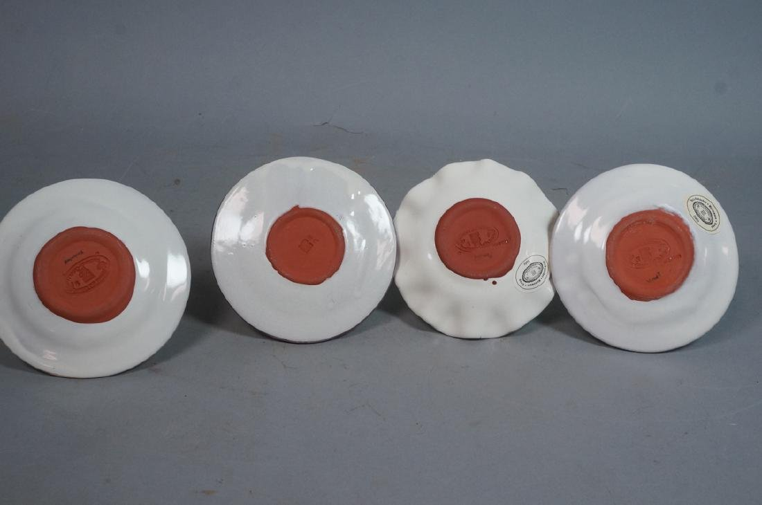 4 MACKENZIE CHILDS Egg Cups. 1991, 1992. Pastel c - 10