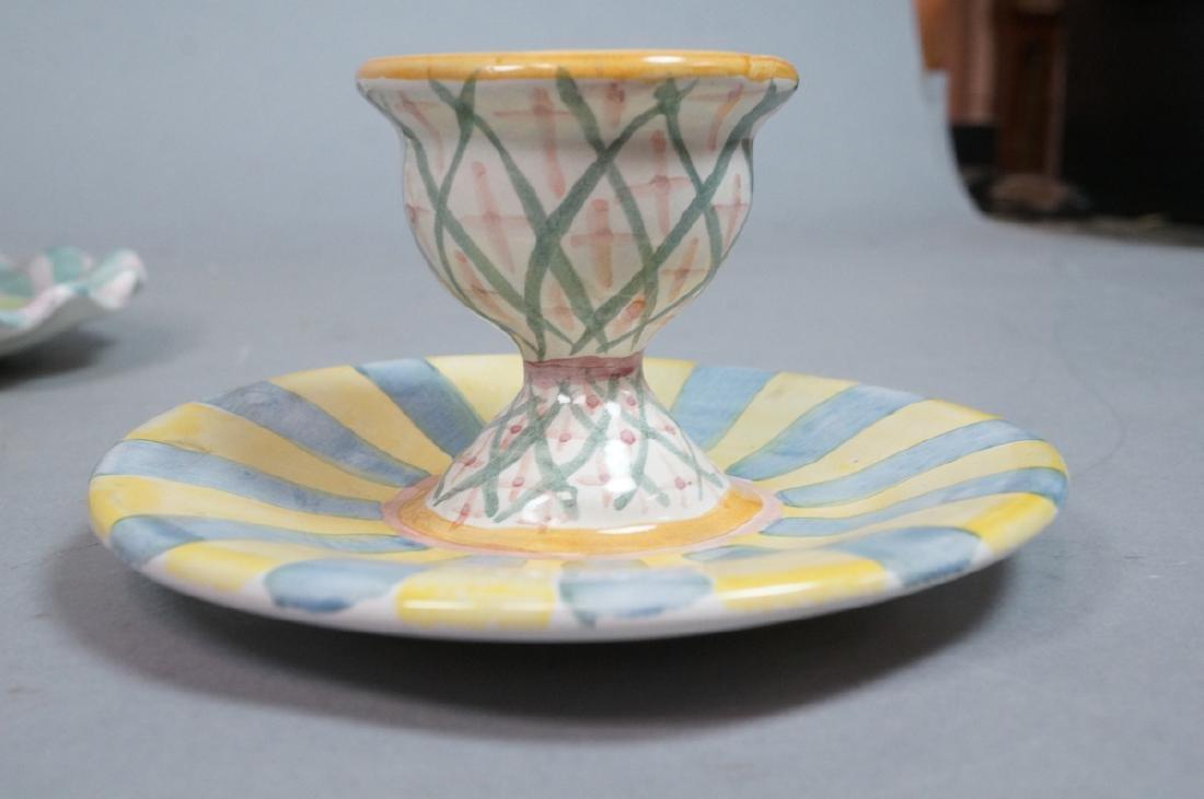 4 MACKENZIE CHILDS Egg Cups. 1991, 1992. Pastel c - 2