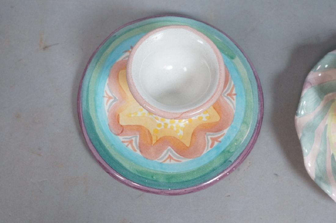 4 MACKENZIE CHILDS Egg Cups. 1991, 1992. Pastel c - 7