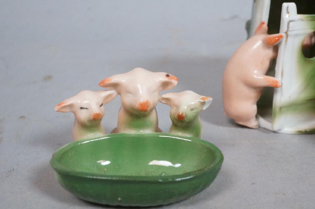 8 Whimsy Pig German Porcelain Figurines. 3 marked - 4