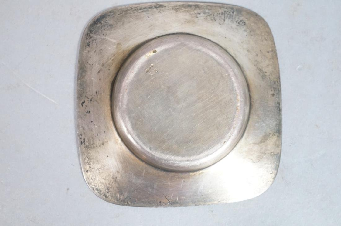 2 Sterling Enamel Dishes Coasters. Russian signed - 3