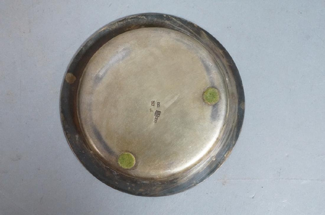 2 Sterling Enamel Dishes Coasters. Russian signed - 7