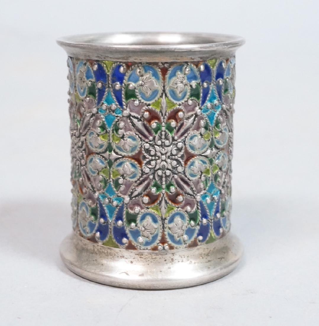 SCHEIBLER Sterling Silver  Plique a Jour Jar. Ste