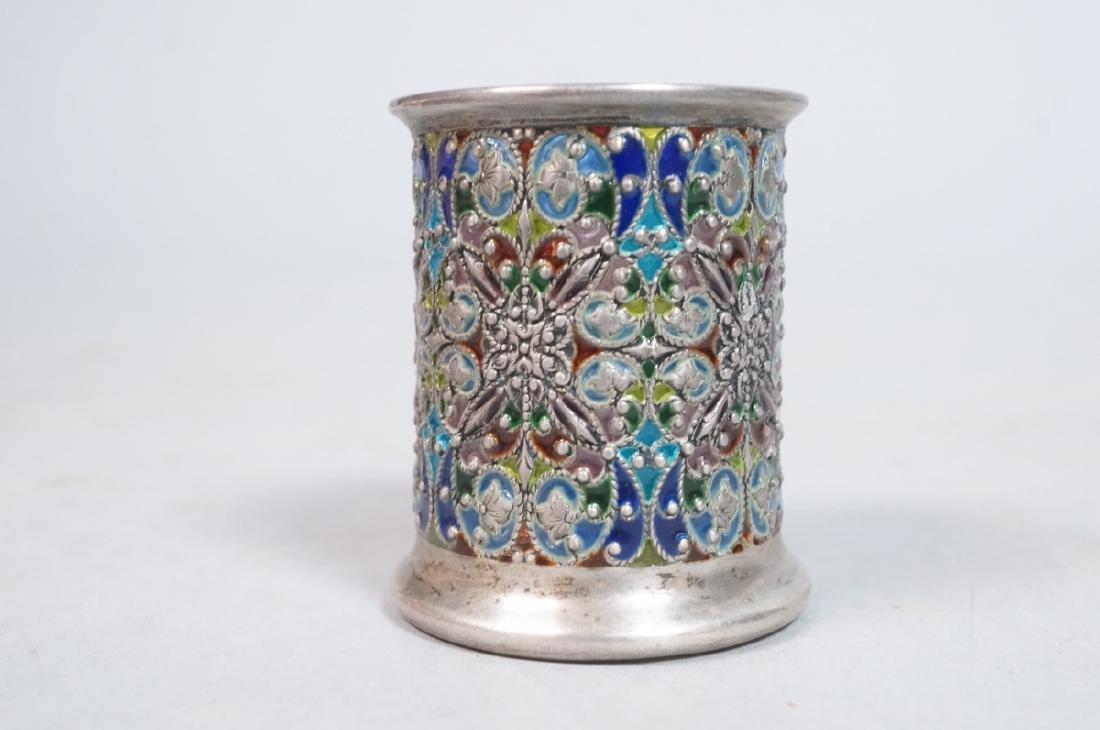SCHEIBLER Sterling Silver  Plique a Jour Jar. Ste - 3