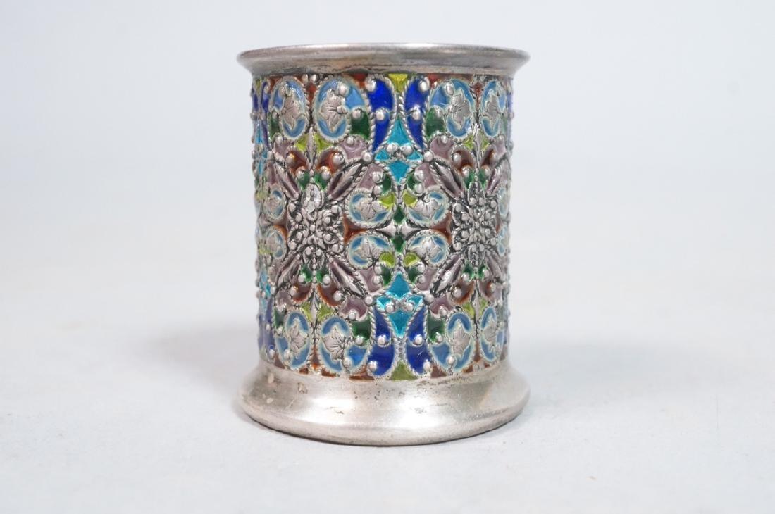 SCHEIBLER Sterling Silver  Plique a Jour Jar. Ste - 4