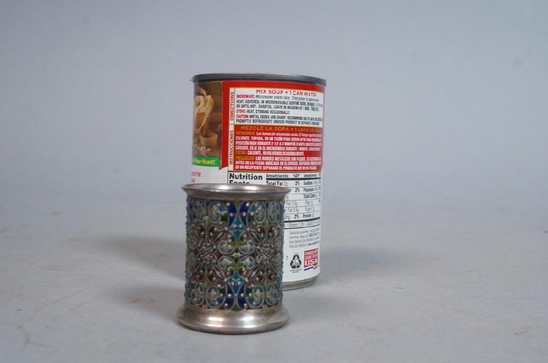 SCHEIBLER Sterling Silver  Plique a Jour Jar. Ste - 5