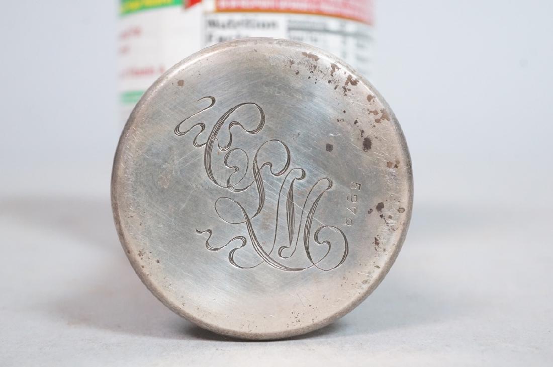 SCHEIBLER Sterling Silver  Plique a Jour Jar. Ste - 6