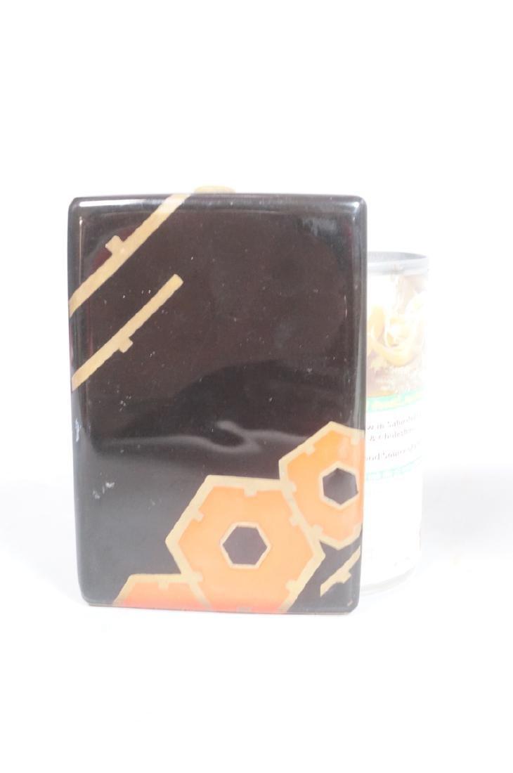 Period Art Deco Enamel Cigarette Case. Black & re - 7