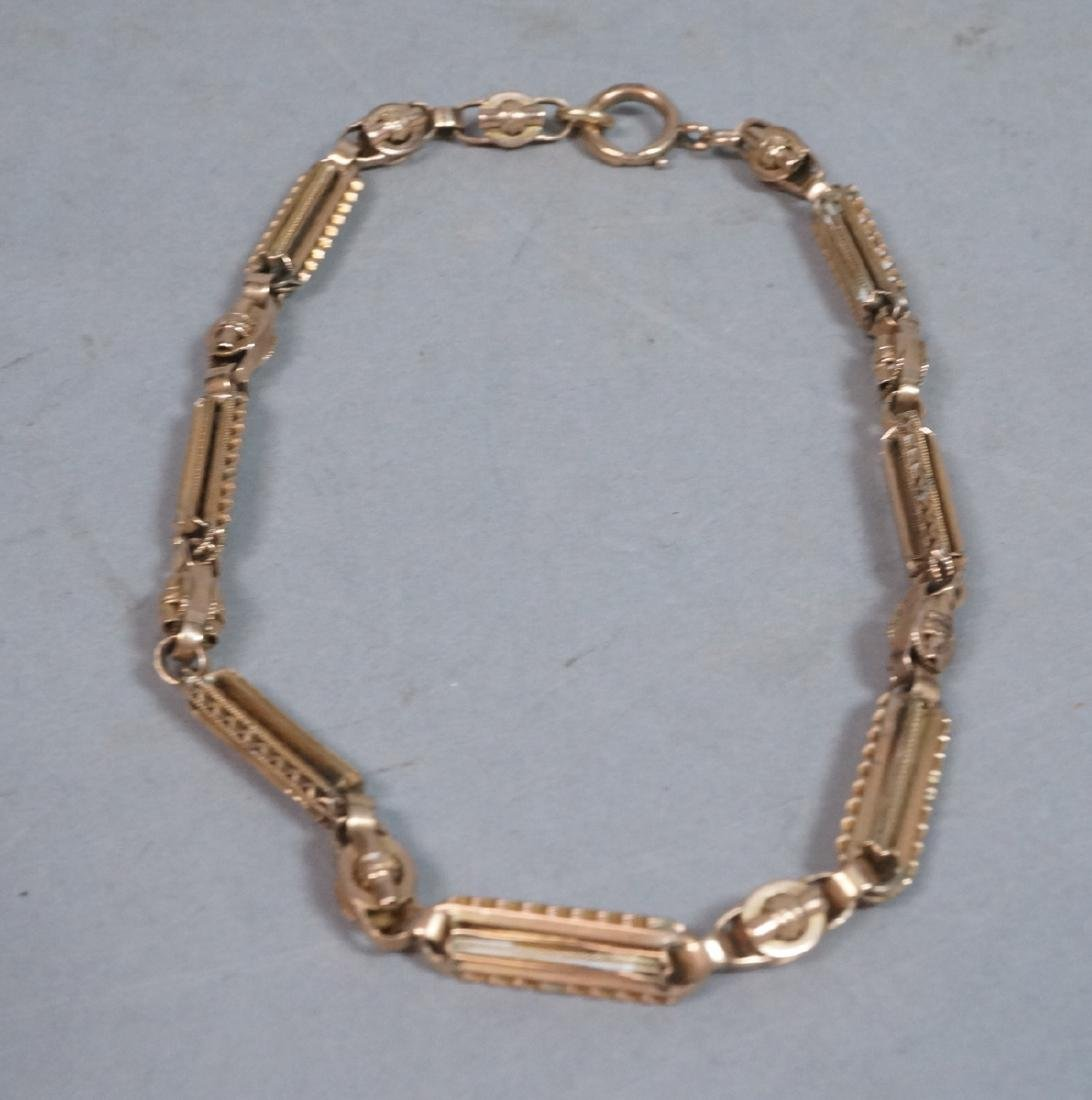 10K Gold Antique Watch Chain. Decorative large re