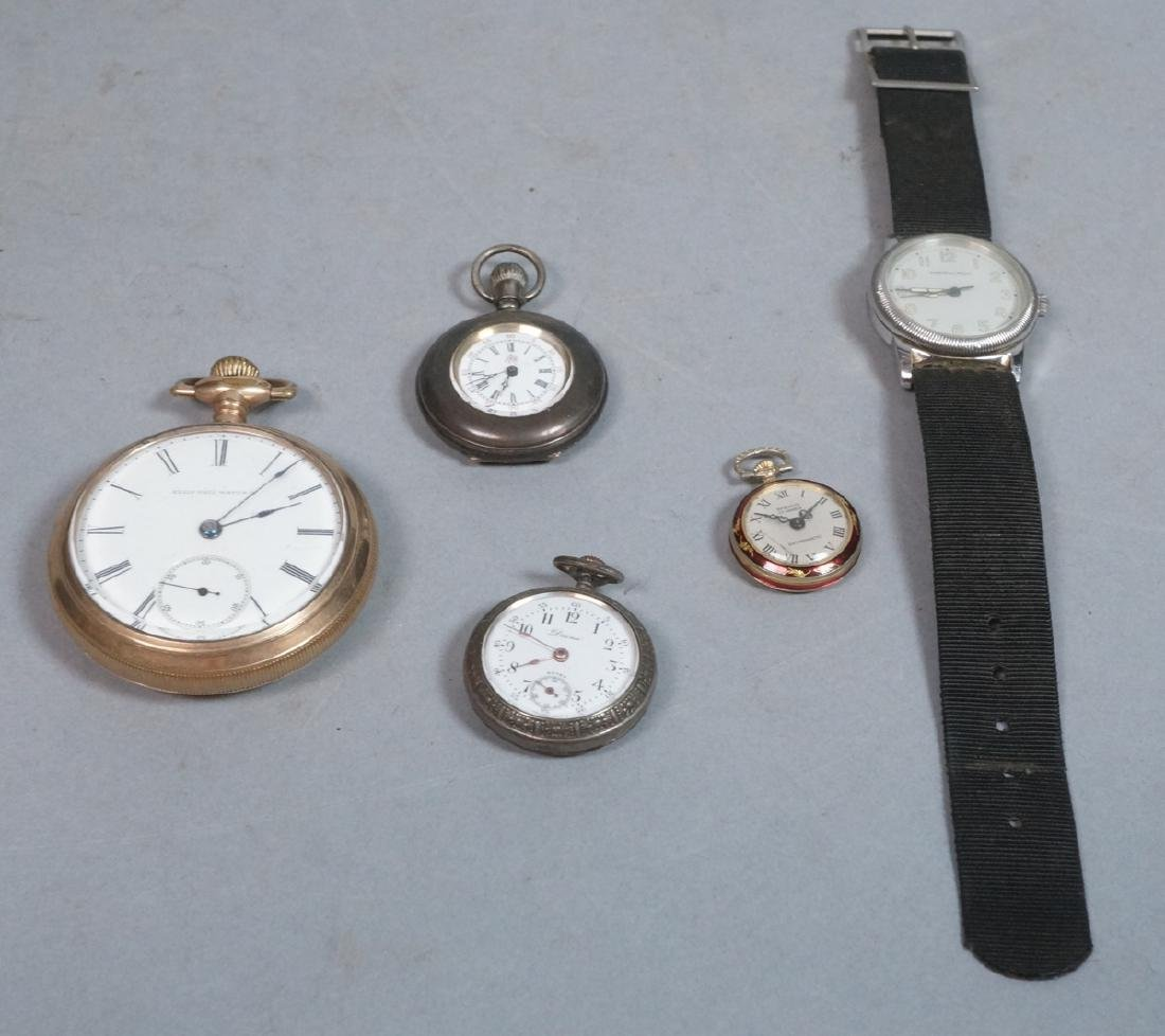 Lot of 5 Vintage Timepieces Pocket Watches. ELGIN