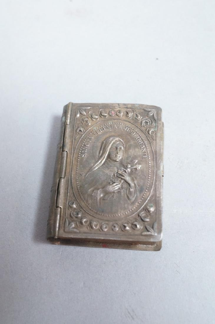 Antique French Carved Mother Pearl Religious Book - 2