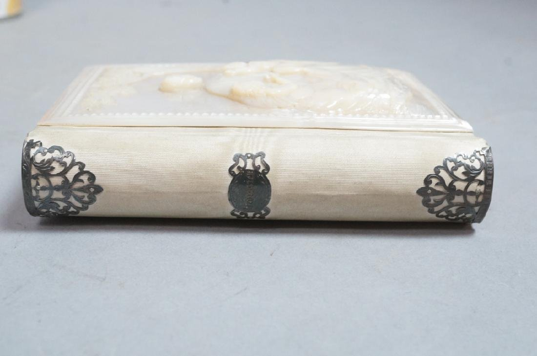 Antique French Carved Mother Pearl Religious Book - 8