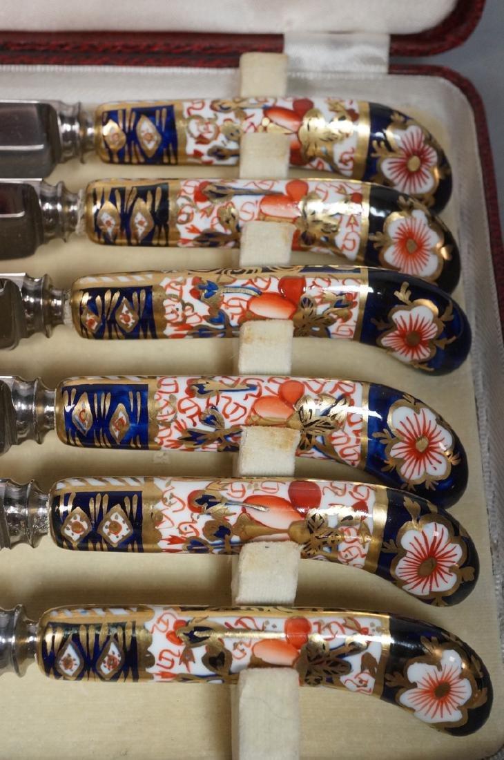ROYAL CROWN DERBY Box Set 6 Knives. Imari style p - 5