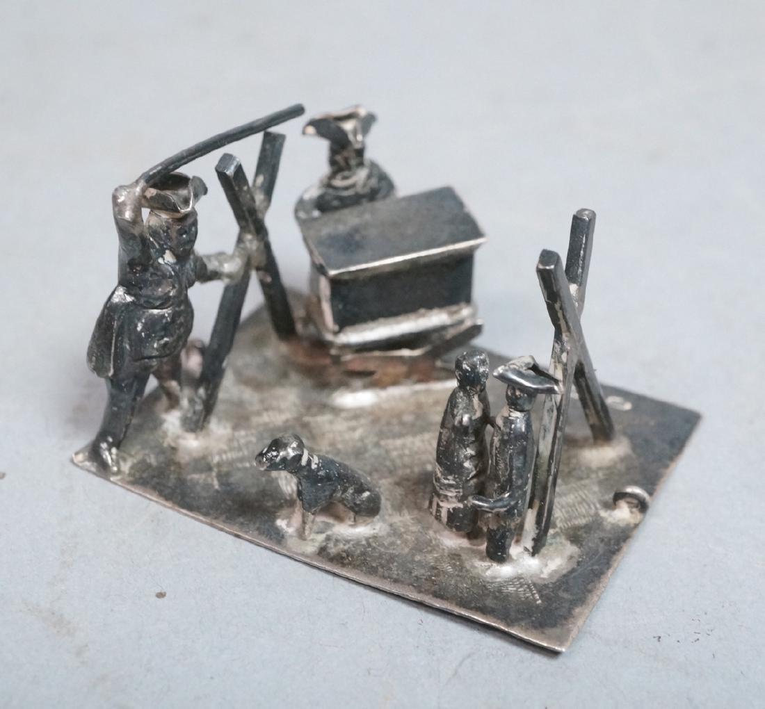 English Hallmark Sterling Miniature Scene Figurin