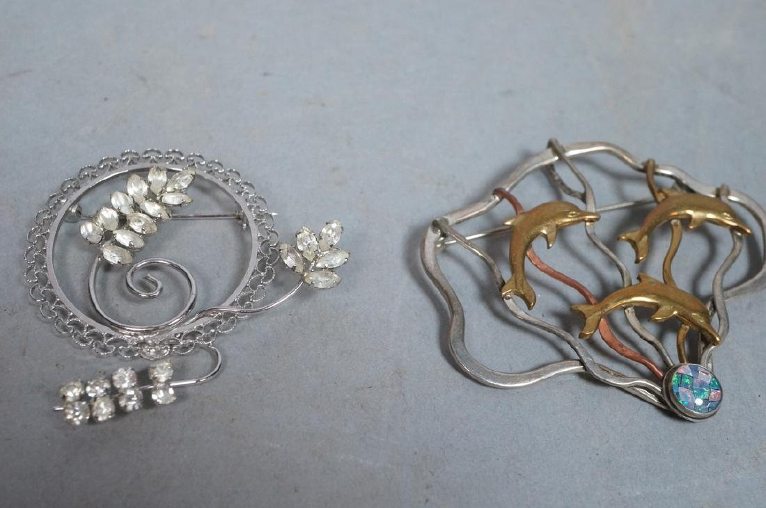 9pc Sterling & Silver Jewelry Lot. Artist signed - 8