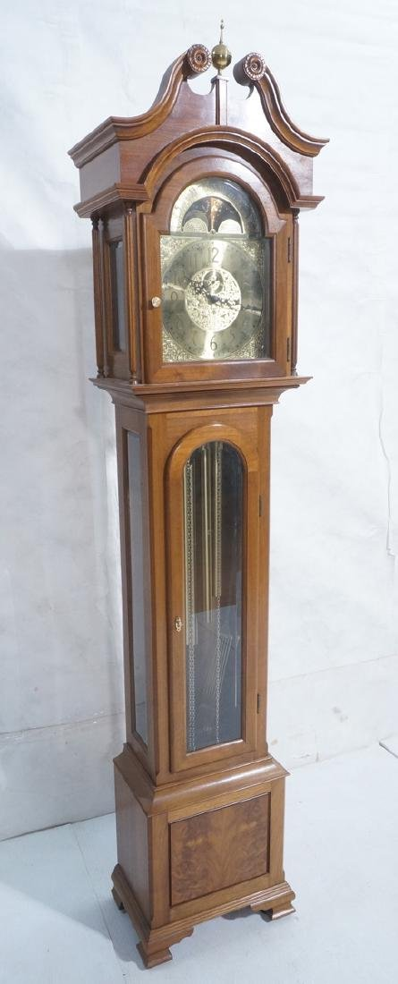 Cherry Stained Mahogany Tall Case Grandfather Clo