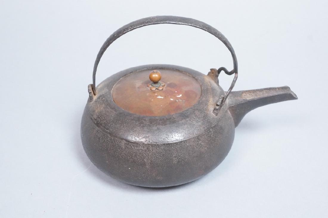 Vintage Asian Cast Iron Footed Kettle Tea Pot. De - 2