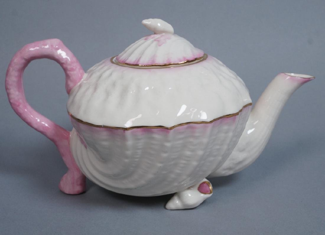 BELLEEK Ireland Figural Sea Shell Form Tea Pot. P
