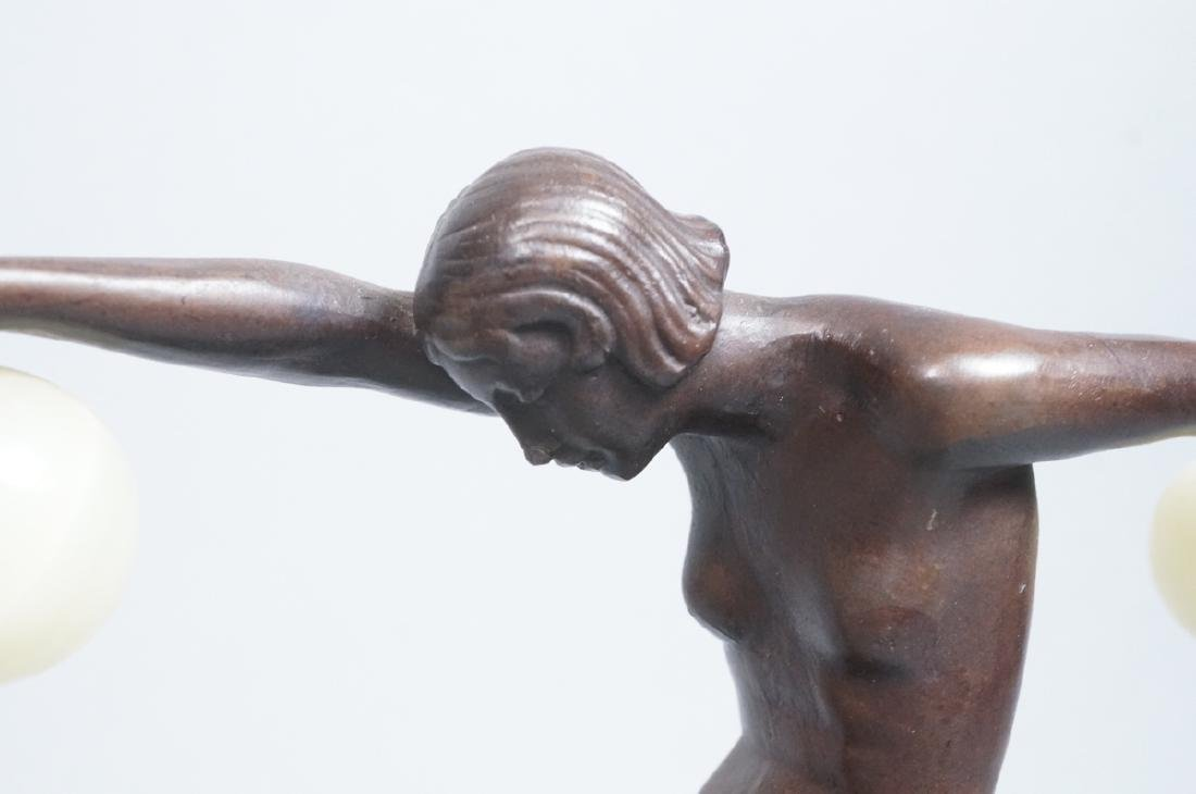 Signed DENIS Art Deco Style Figural Nude Bronze S - 2