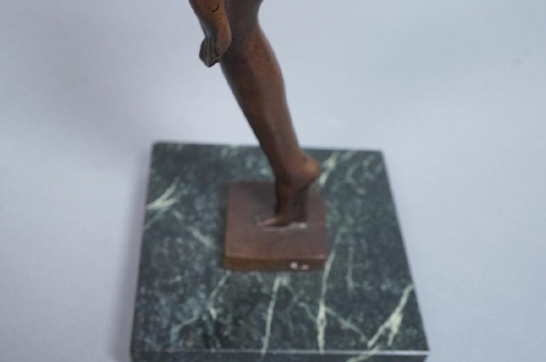 Signed DENIS Art Deco Style Figural Nude Bronze S - 3