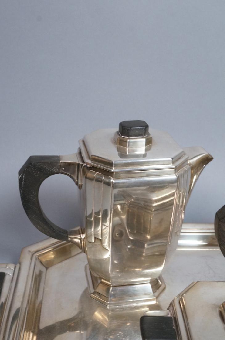 Stunning Rare Art Deco Silver Tea Service. Modernistic - 2