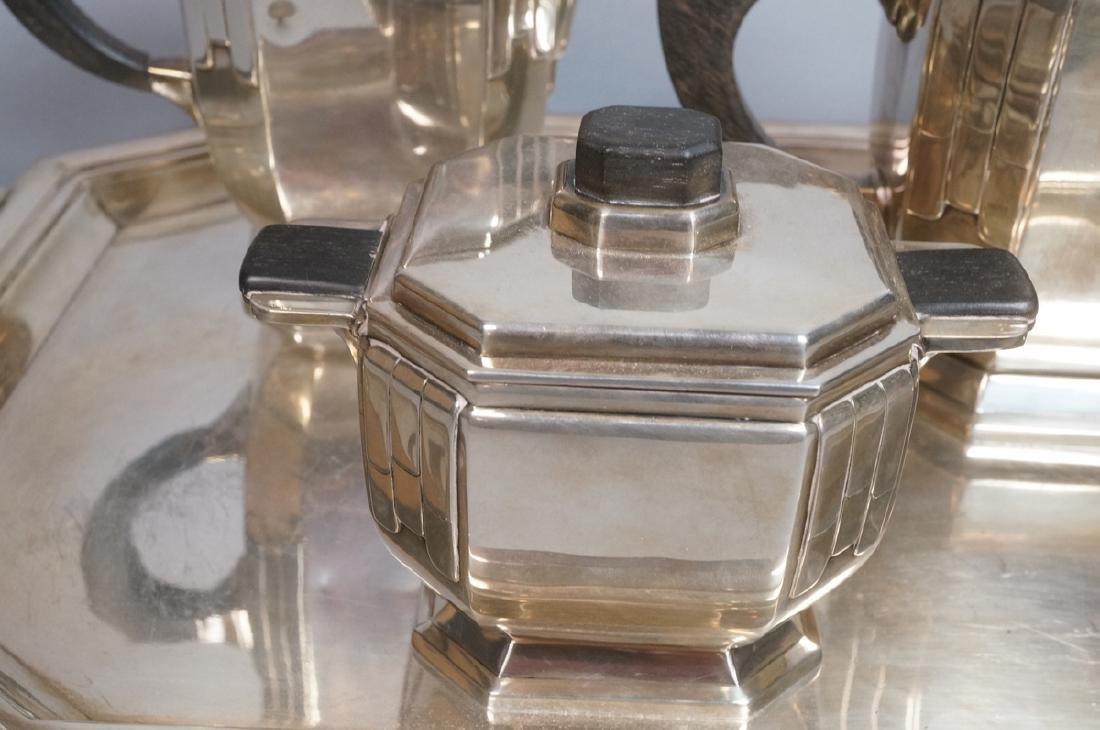 Stunning Rare Art Deco Silver Tea Service. Modernistic - 3