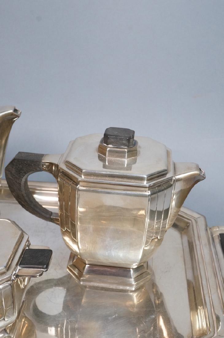 Stunning Rare Art Deco Silver Tea Service. Modernistic - 4