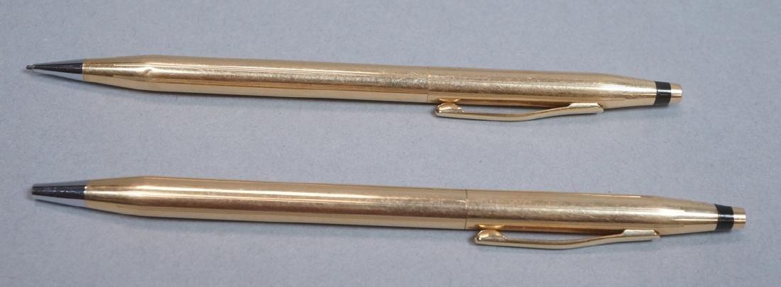 2pc CROSS 14K Gold Pen Pencil Set.