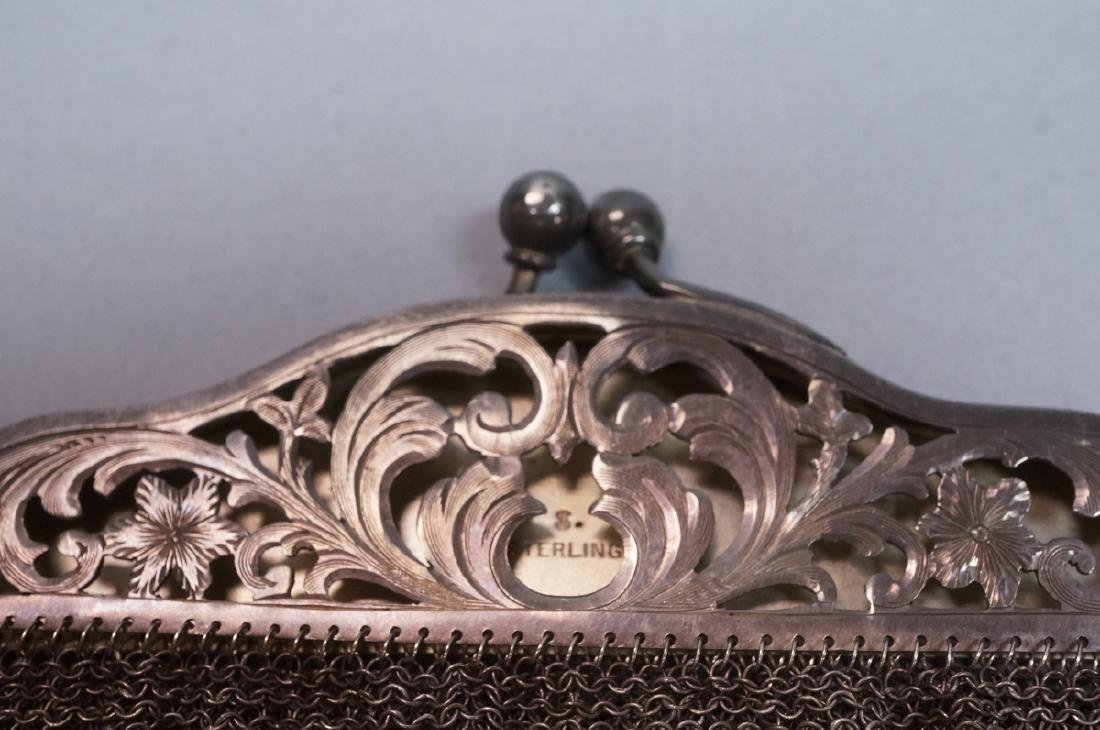 Antique Sterling Chain Maille Evening Bag Purse. - 2