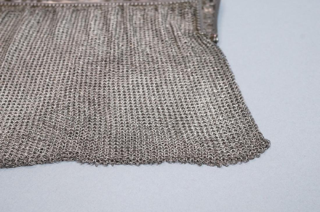 Antique Sterling Chain Maille Evening Bag Purse. - 3