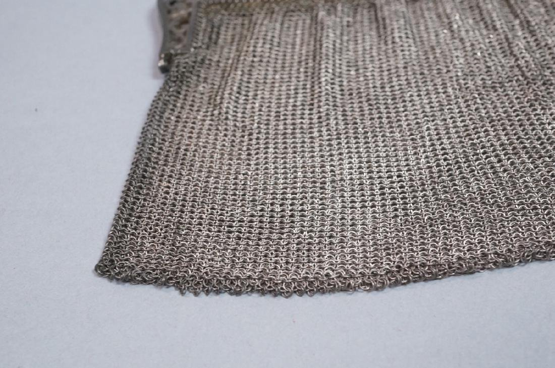 Antique Sterling Chain Maille Evening Bag Purse. - 4