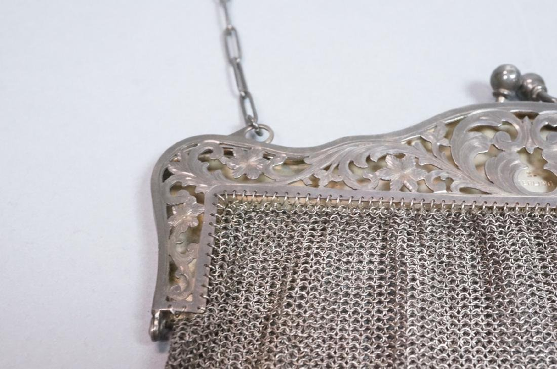 Antique Sterling Chain Maille Evening Bag Purse. - 5