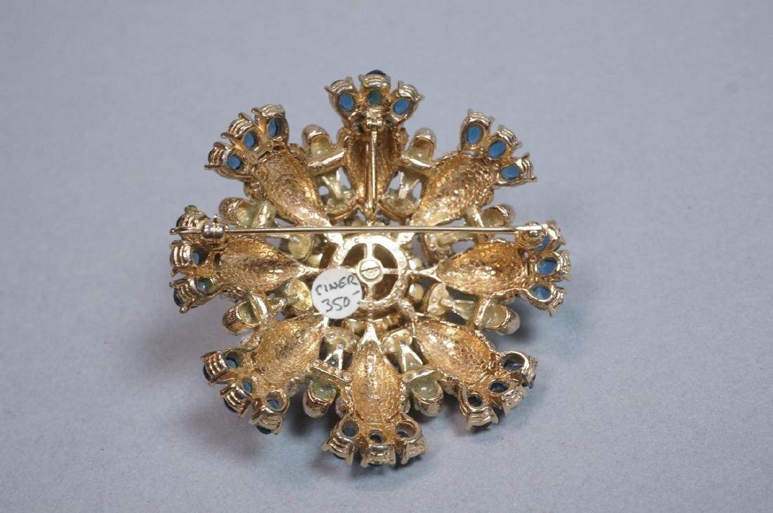 CINER Fabulous Rhinestone Costume Jewelry Pin. Bl - 2