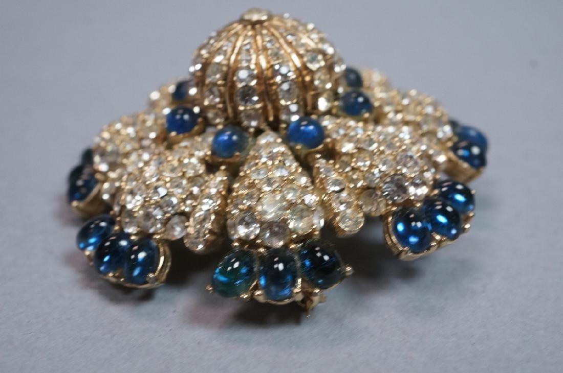 CINER Fabulous Rhinestone Costume Jewelry Pin. Bl - 3