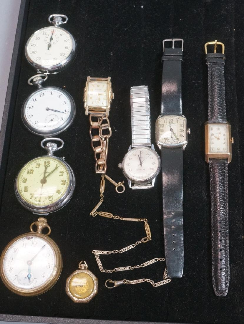 10pc Time Piece Pocket & Wrist Watch Lot. 4 wrist