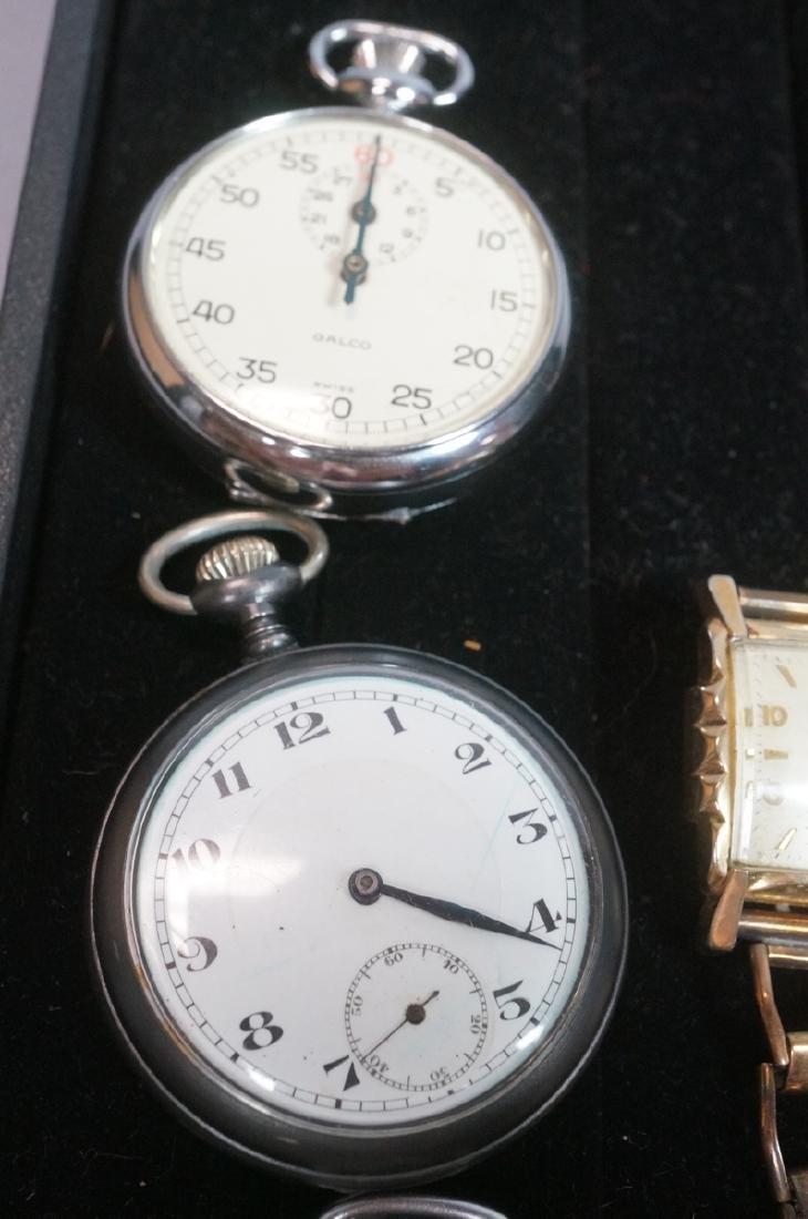 10pc Time Piece Pocket & Wrist Watch Lot. 4 wrist - 3