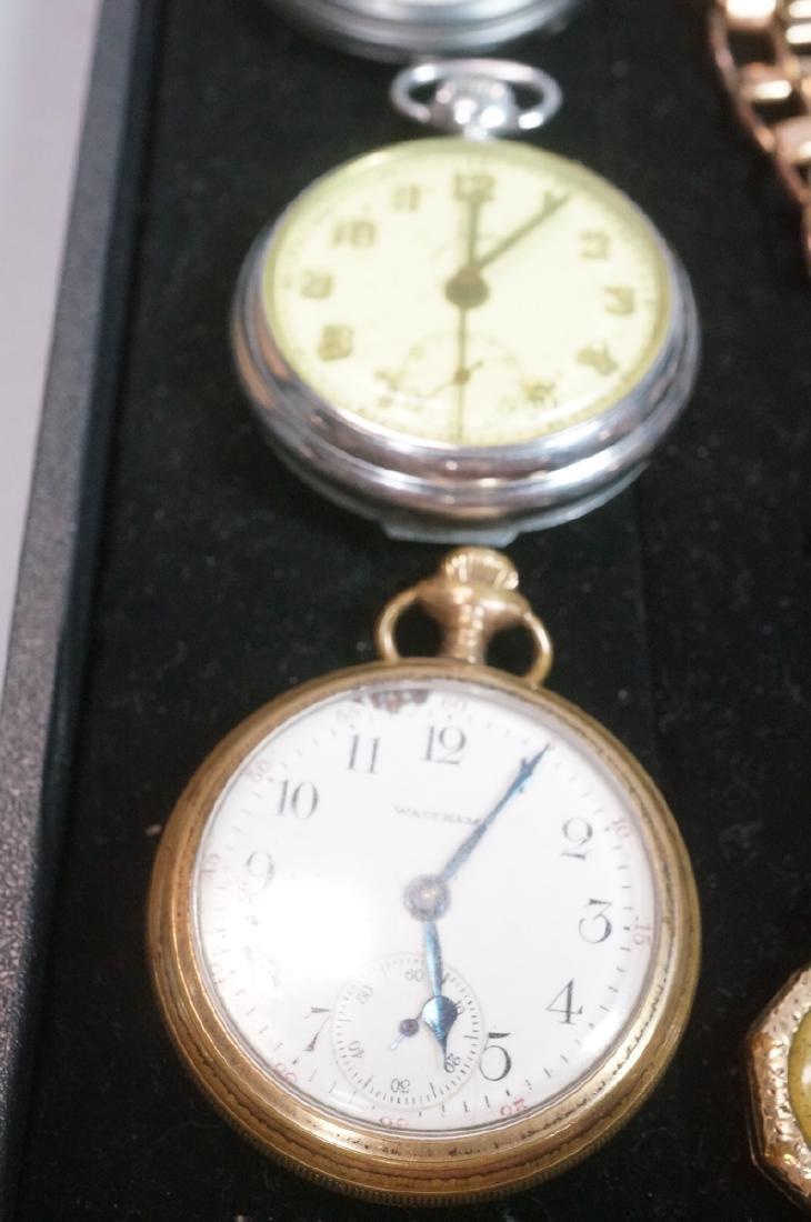 10pc Time Piece Pocket & Wrist Watch Lot. 4 wrist - 4