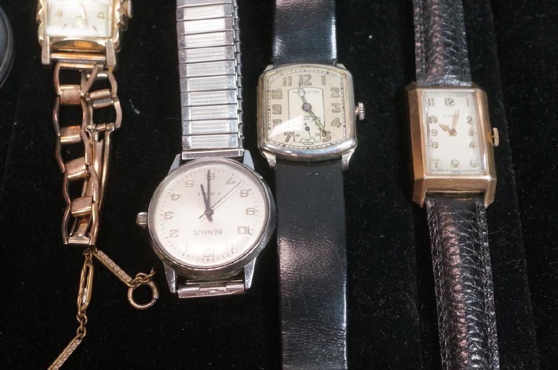10pc Time Piece Pocket & Wrist Watch Lot. 4 wrist - 5
