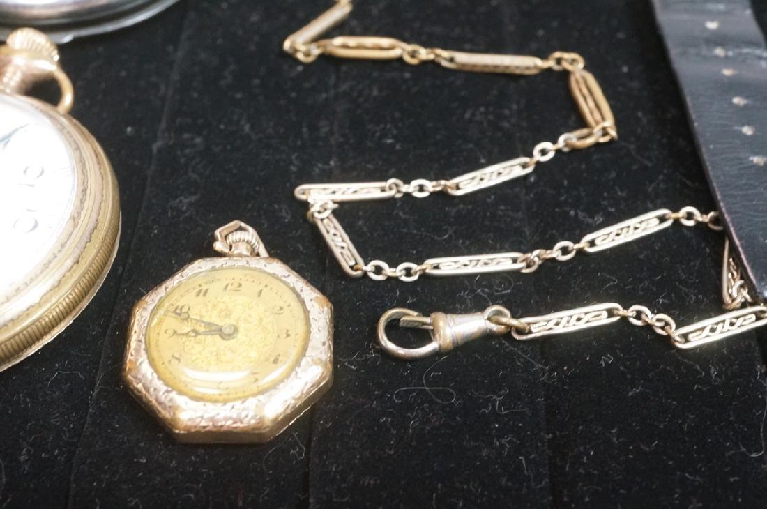 10pc Time Piece Pocket & Wrist Watch Lot. 4 wrist - 6