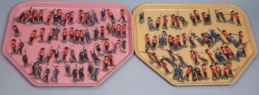 116 BRITAINS Toy Lead Soldiers. Painted toy soldi