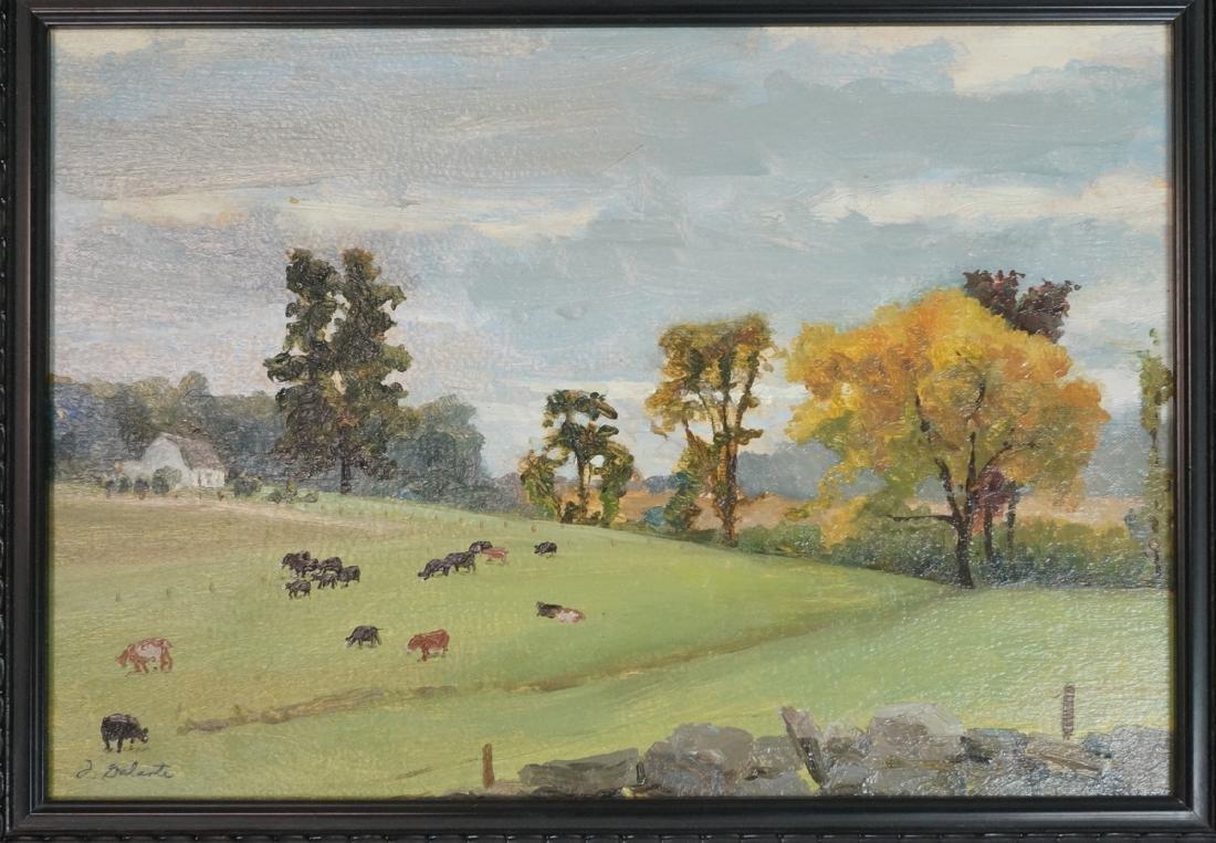 """FRANCES GALANTE Pastoral Landscape Oil Painting """""""