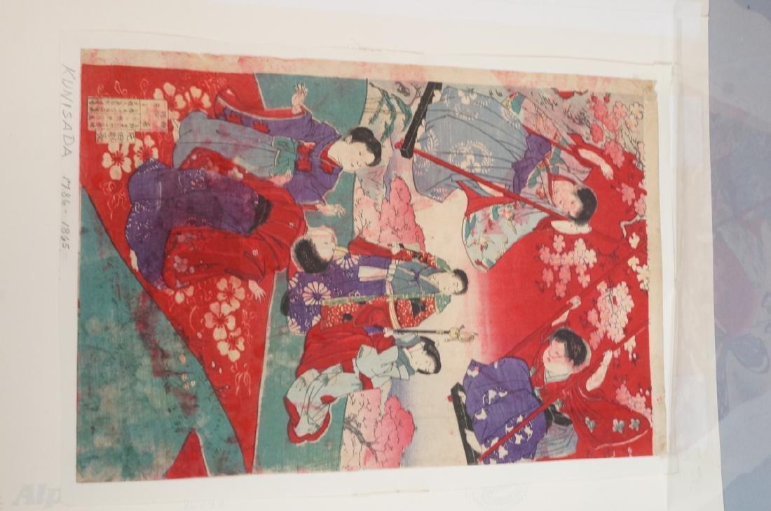 3 Japanese Wood Block Prints. 1) TOYO KUNI Samura - 4