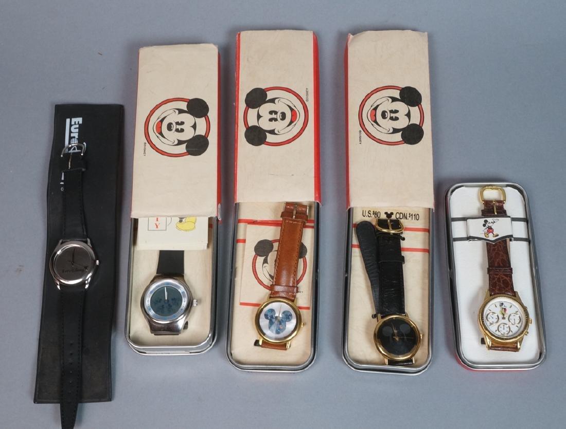 5 DISNEY MICKEY MOUSE Watches. 1) Euro Disney mir