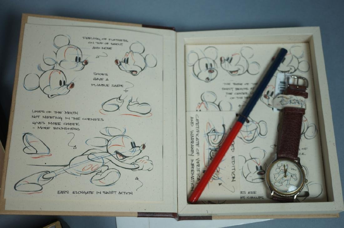 """5 DISNEY MICKEY MOUSE Watches. 1)""""Sketches of Mic - 2"""