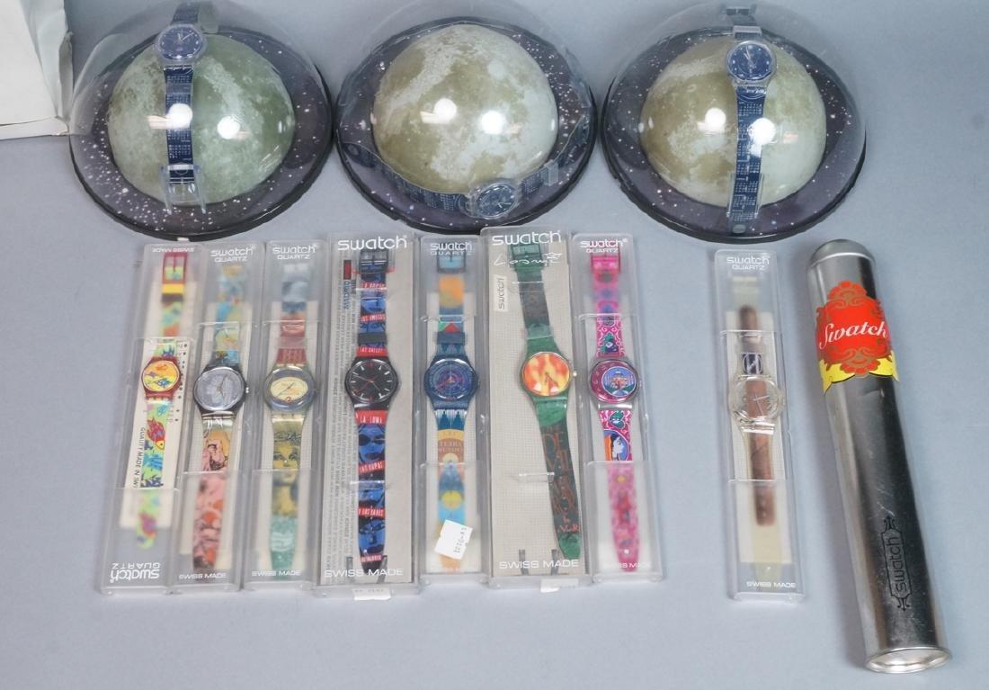 11 Vintage SWATCH Watches. 3 Calendar Watches 199