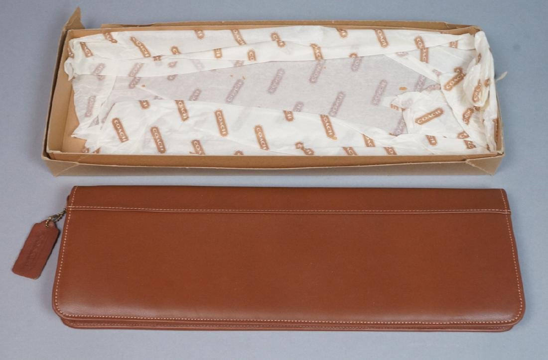 COACH Tan leather Tie Case. New in gift box with