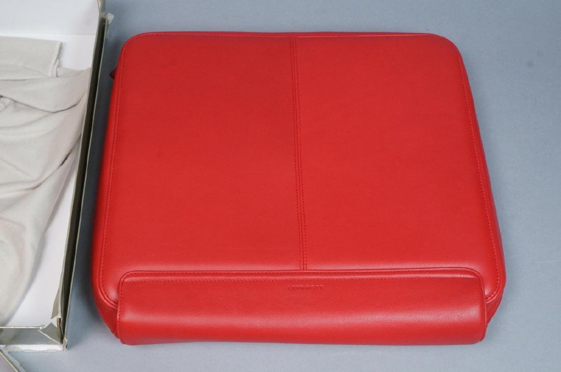 LEVENGER Red Leather Lap Top Clutch Case in Gift