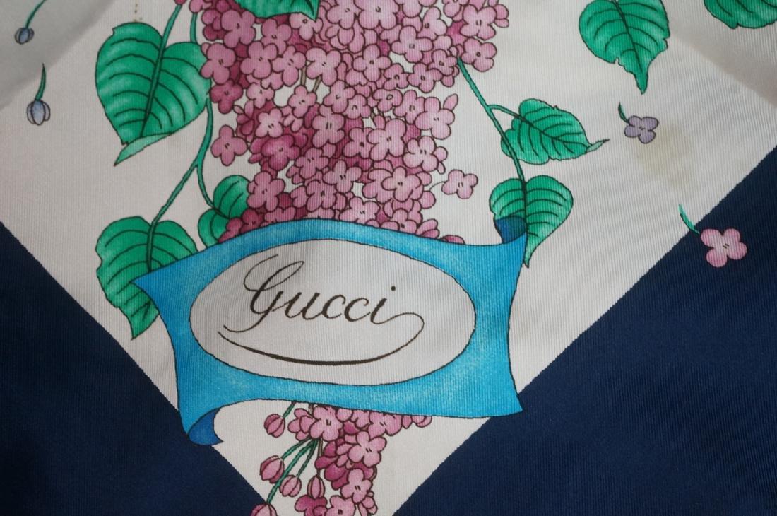 2 Vintage GUCCI Silk Scarves. Ascot racing silks,