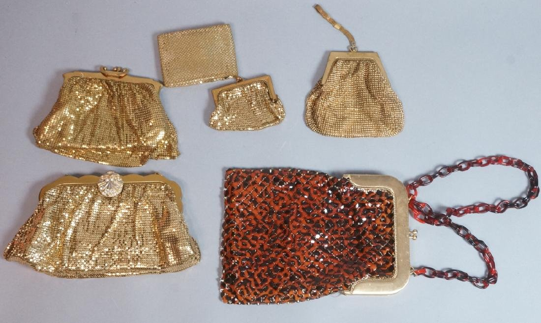 6 Vintage WHITING & DAVIS Mesh Bags. Including un