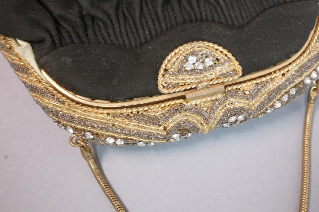 4 Vintage Evening Bags Purses. 2 seed bead and em - 3